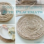 Pottery Barn Inspired Round Jute Placemats