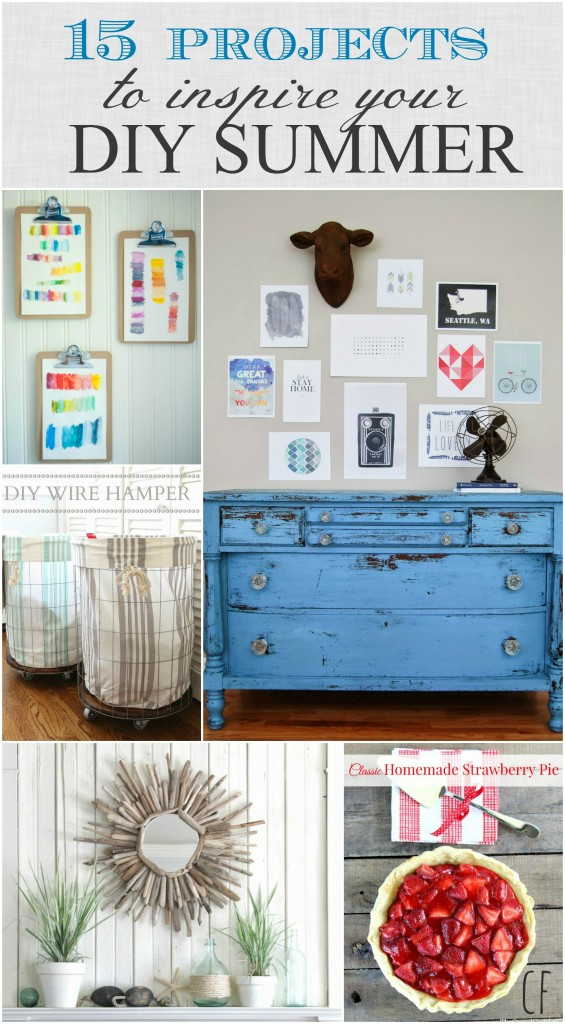 15 Projects to inspire your DIY Summer {all from the Inspiration Exchange}