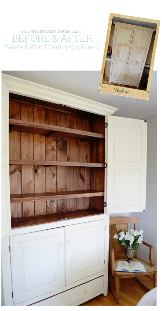 Before and After Wood Pantry Cupboard from Anderson and Grant