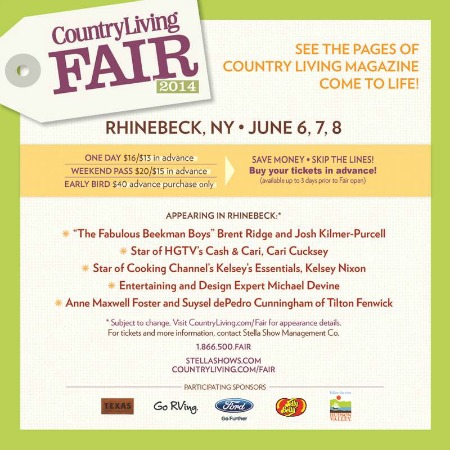 Country Living Fair is Coming To NY {this weekend}, Are You Going?