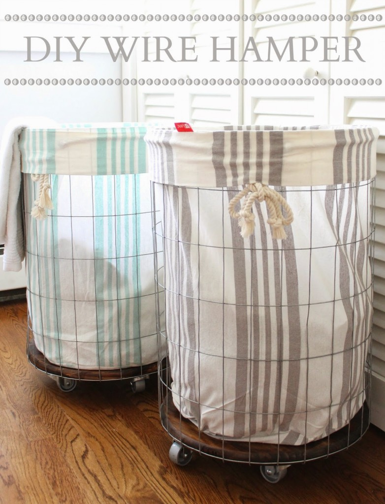 DIY Wire Hamper-The Picket Fence Projects