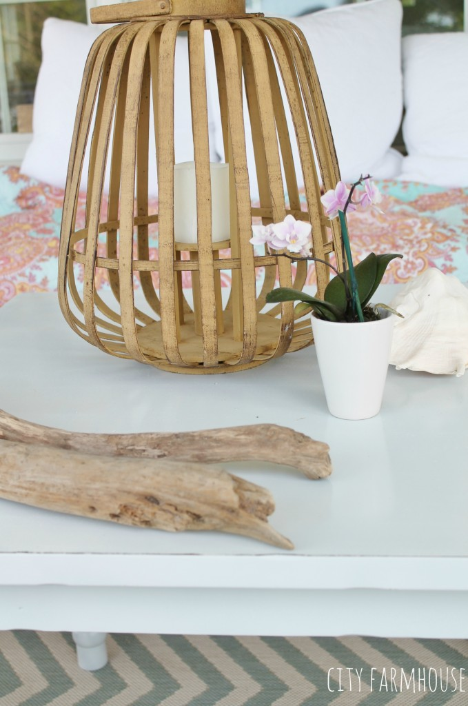 Pottery Barn Kids Table Makeover-Outdoor Coffee Table
