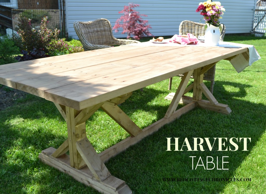 Red Cottage Chronicles-DIY Harvest Table