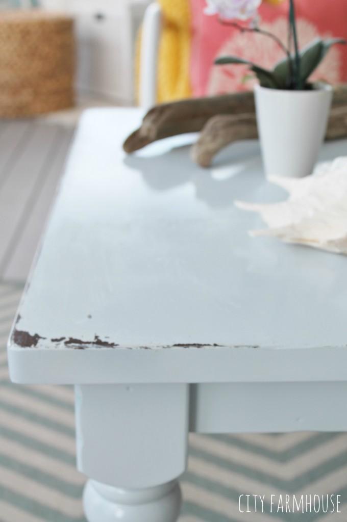 Summer Coastal Rustic Coffee Table