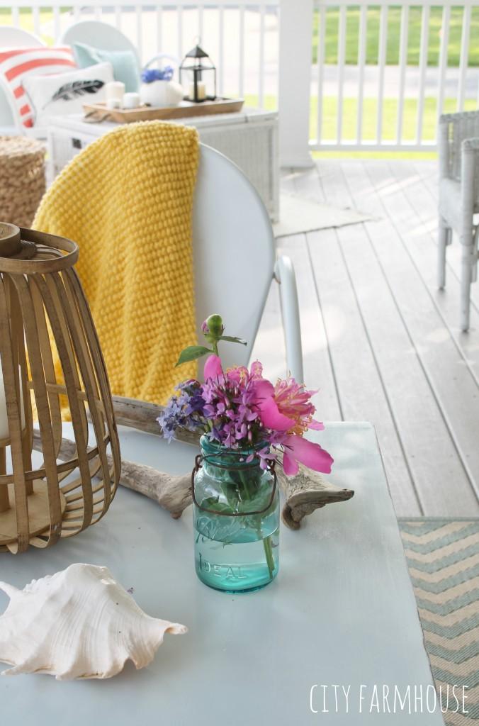 Summer Tour-Farmhouse Front Porch With Vintage Touches