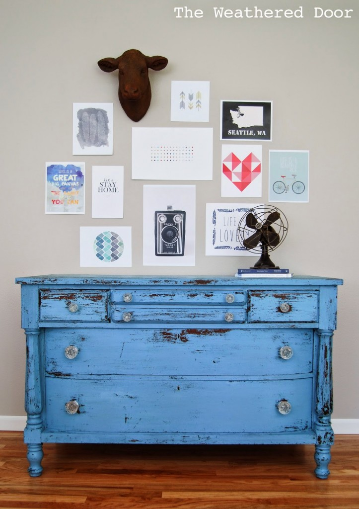 chippy blue empire dresser The Weathered Door
