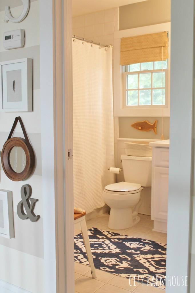 Bathroom Reveal-Preppy Coastal Chic {Walls Valspar Rope}