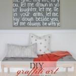 DIY Graffiti Art Using Wedding Song Lyrics {a gift to my husband}