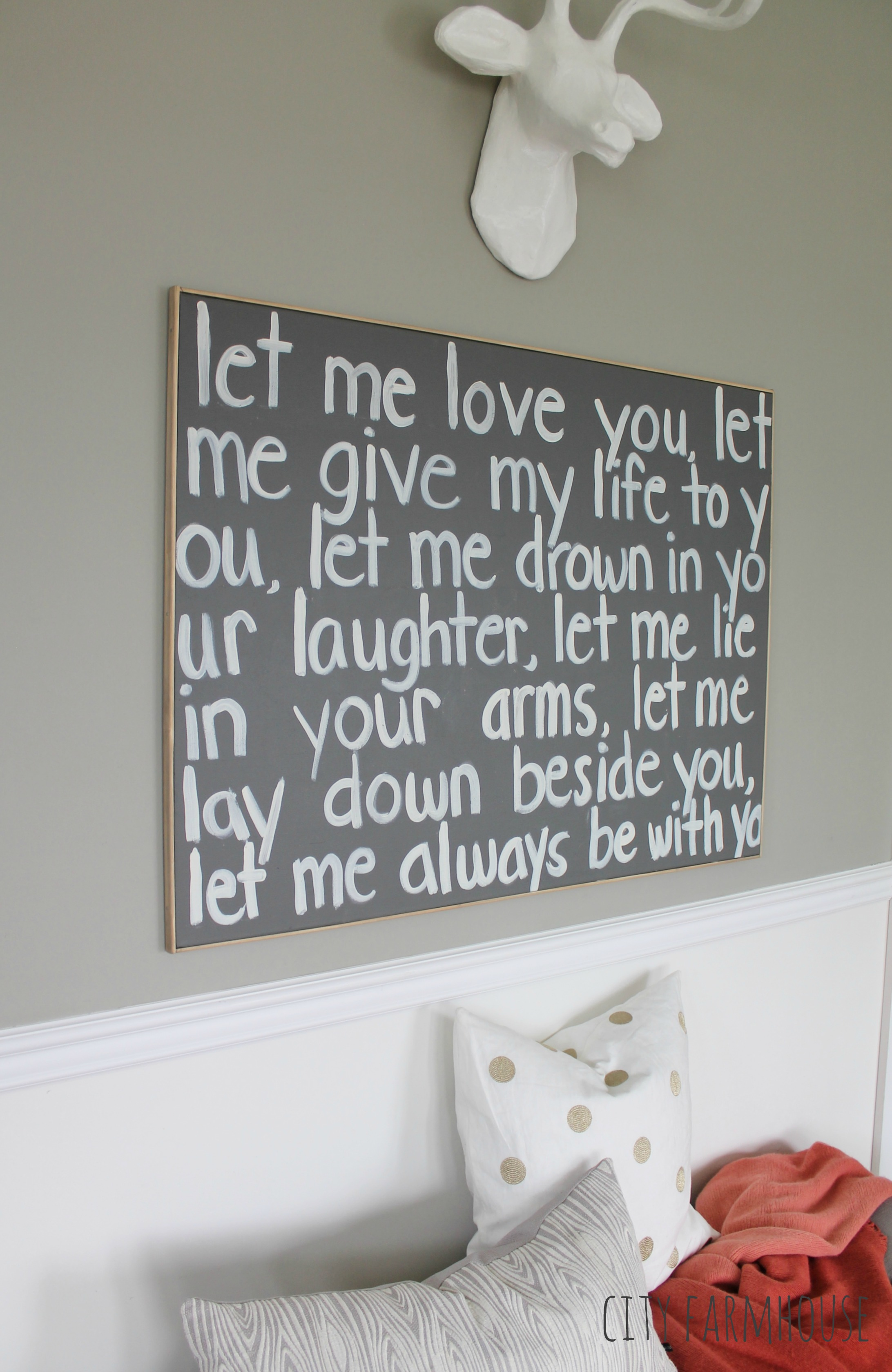 Diy Graffiti Art Using Wedding Song Lyrics A Great Gift For Under 30