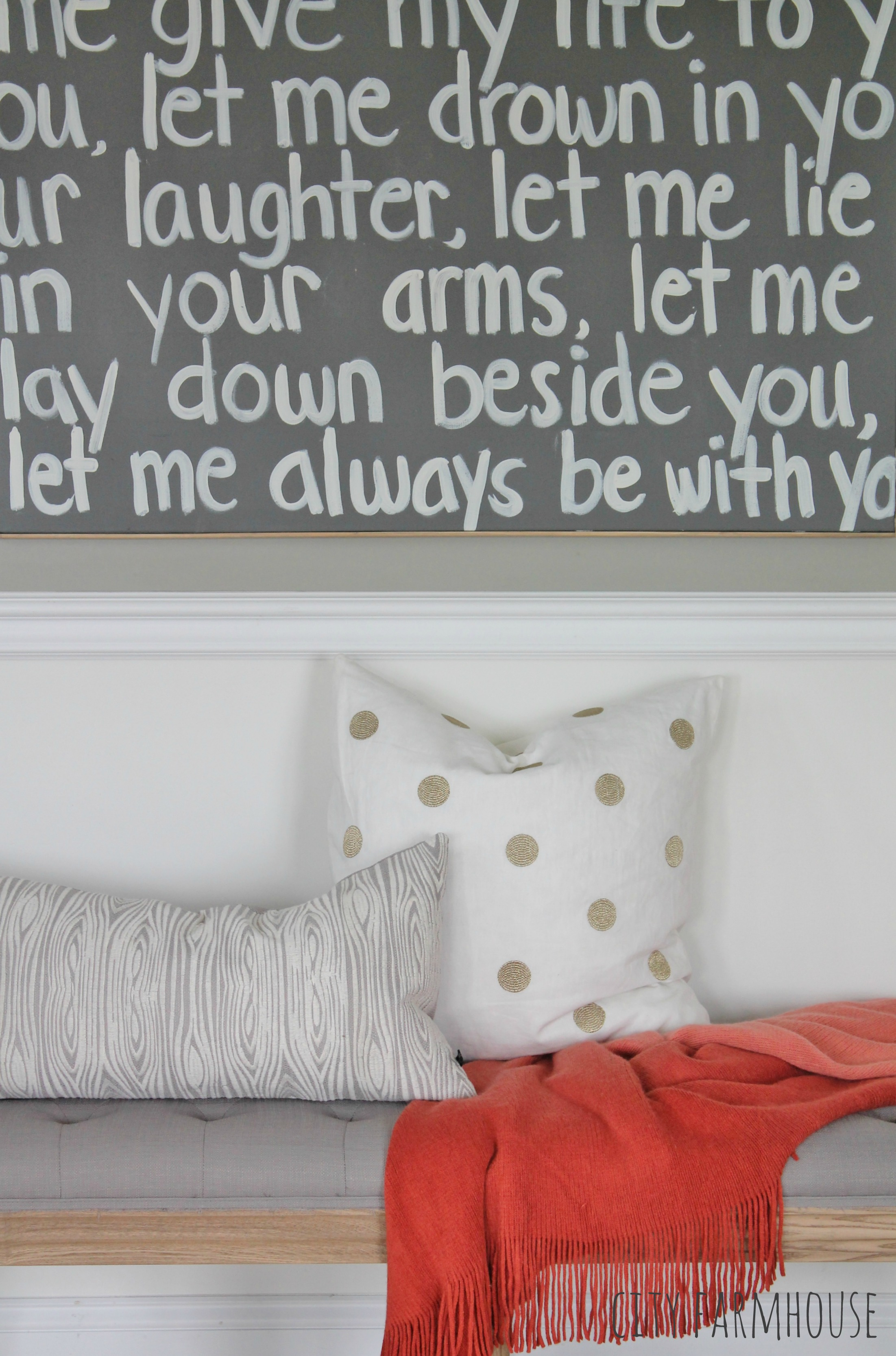DIY Graffiti Art Using Wedding Song Lyrics {a gift to my husband ...