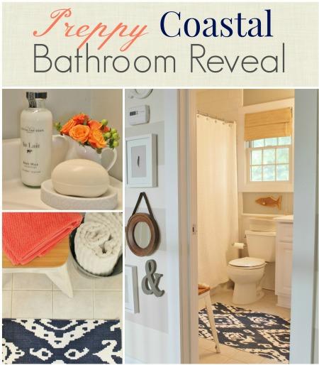 Preppy Coastal Bathroom Reveal