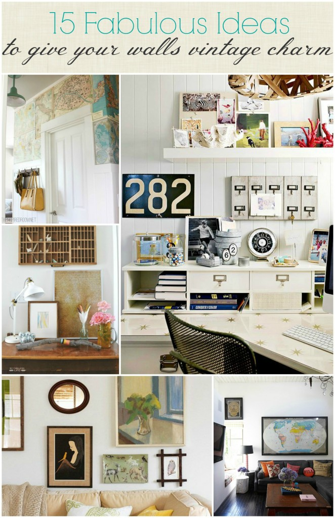 15 Fabulous ideas to give your walls vintage charm