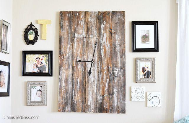 Features Cherished Bliss-DIY Barnwood Clock