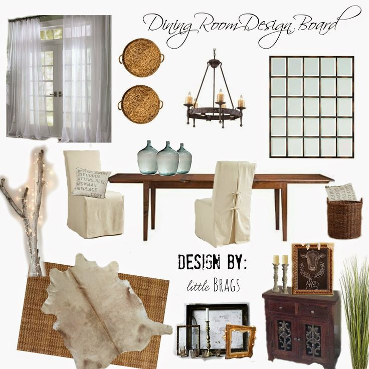 Features Little Brags Dining Room Design Board