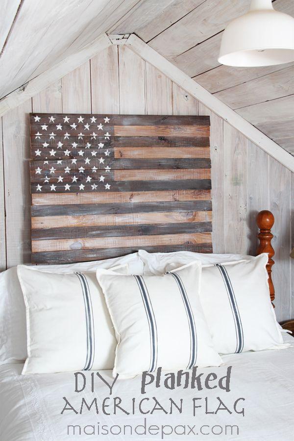 Features-Maison De Pax-Planked American Flag
