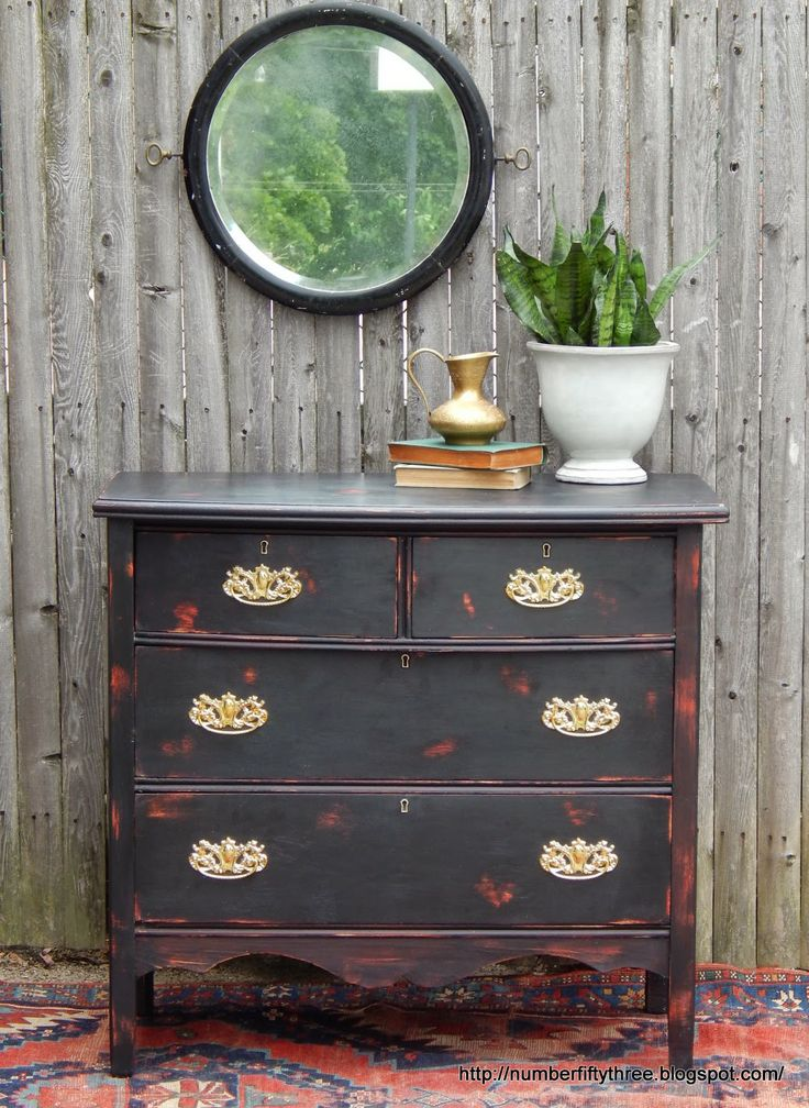 Features-Number Fifty Three Black Dresser