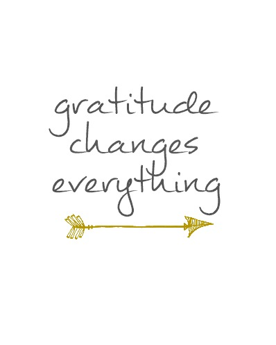 Gratitude Changes Everything Free Printable Gray & Gold