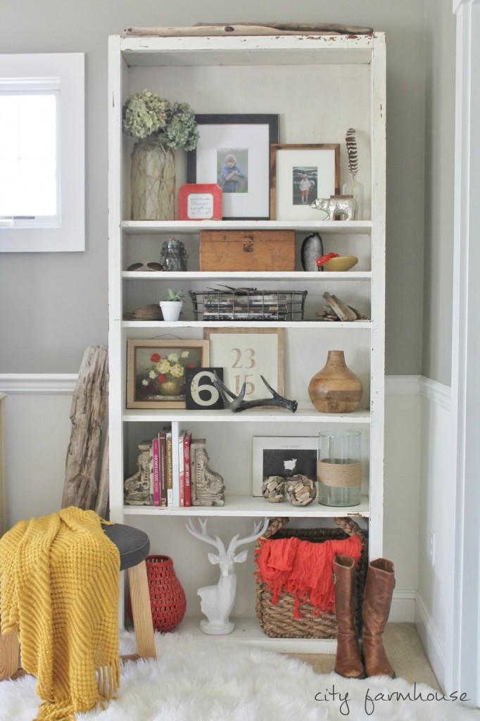 Rustic Chic Fall Shelves & Free Fall Printable