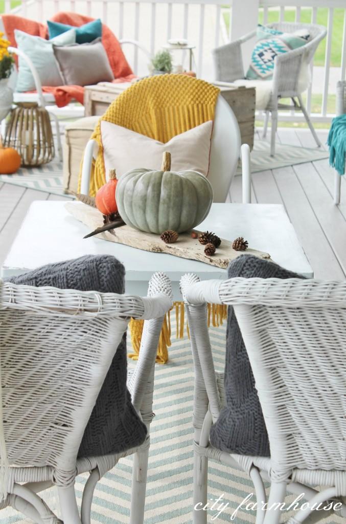 Rustic Cozy Fall Front Porch