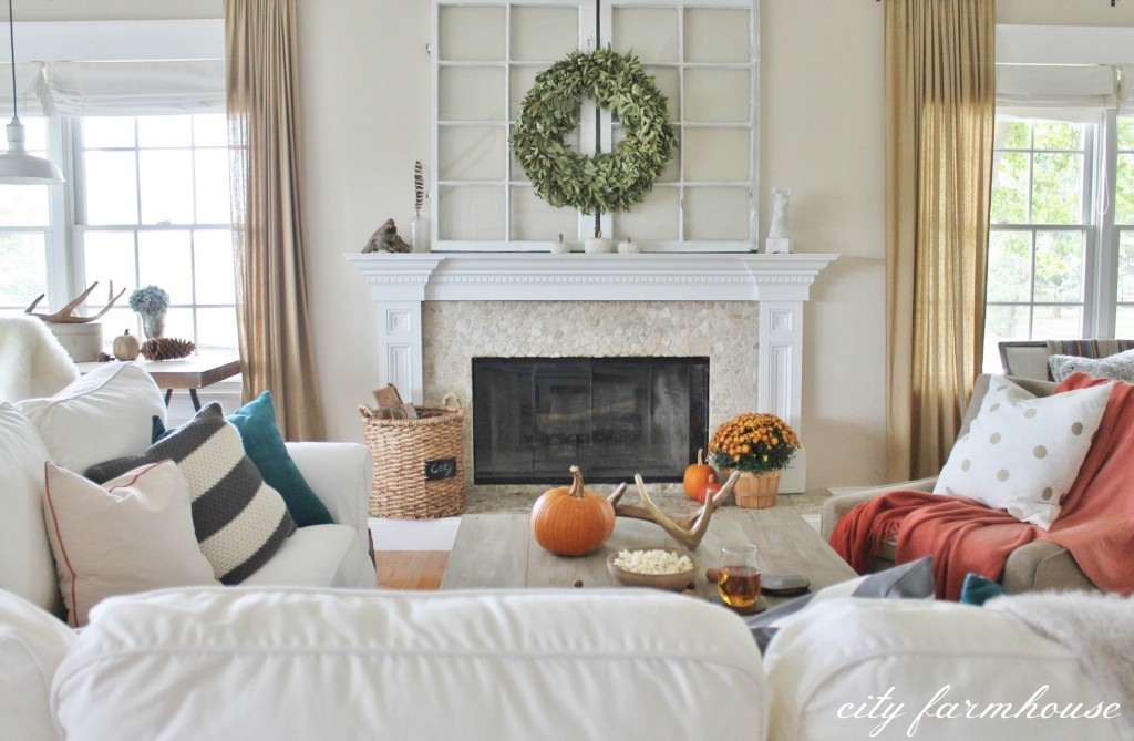 Rustic Fall Family Room
