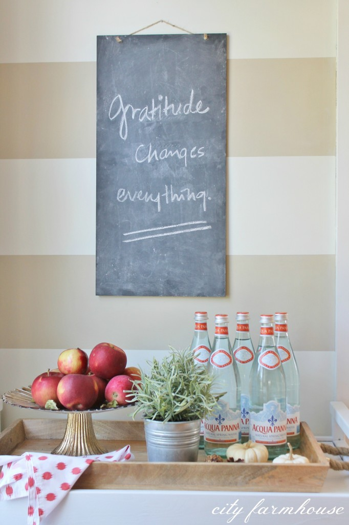 Rustic Fall Kitchen-Gratitide Changes Everything