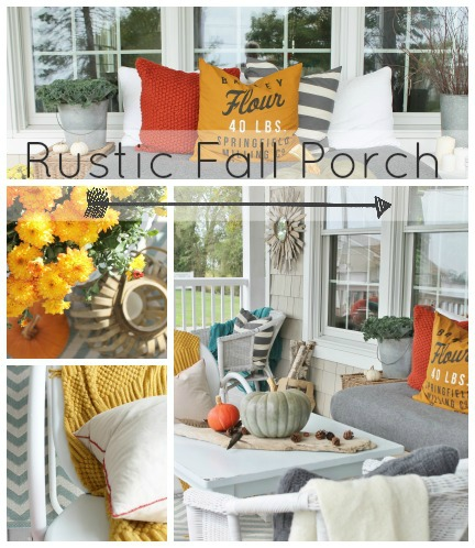 Rustic Fall Front Porch