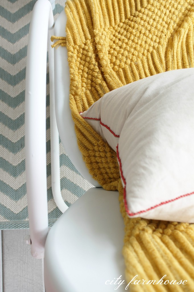 Rustic Fall Porch-Rug Ballards-Throw & Pillow Home Goods