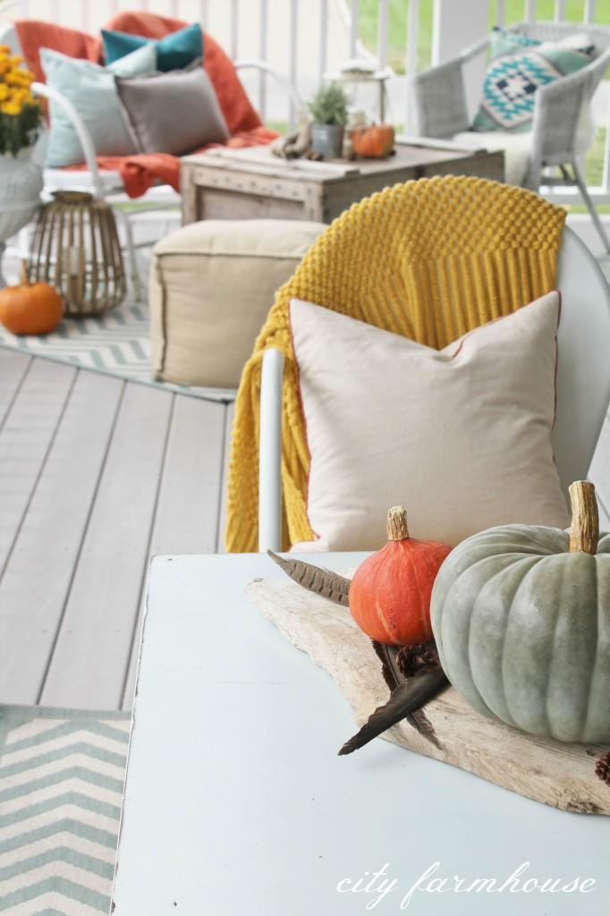 Rustic Fall Porch-Texture & Color