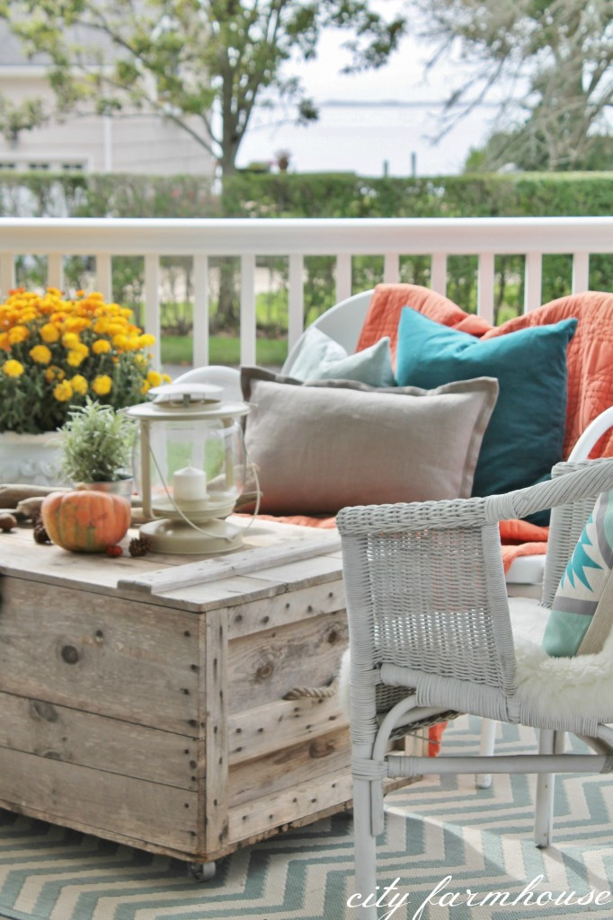 Rustic Fall Porch-View of Bay