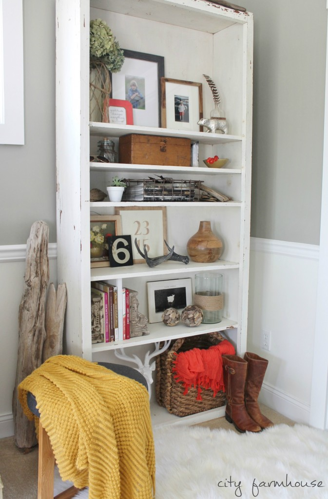 Rustic Fall Shelves & Free Printable