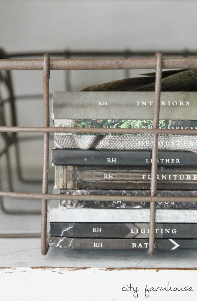 Rustic details in bookcase