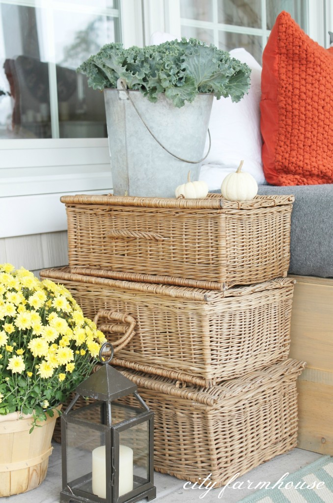 Stacked Vintage Baskets-City Farmhouse
