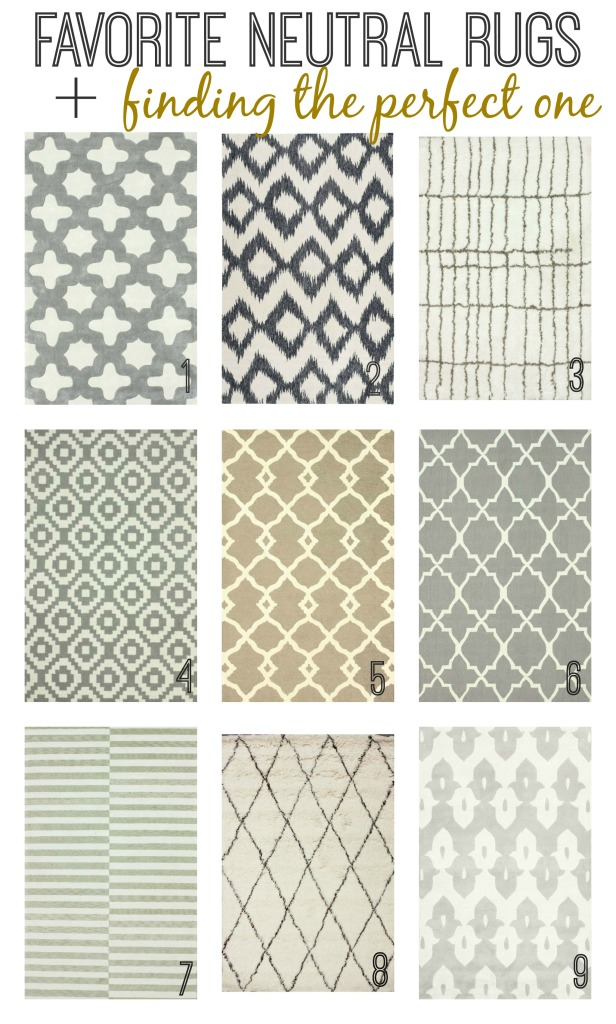Favorite Neutral Rugs Finding The Perfect One
