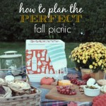 How To Plan The Perfect Fall Picnic + No Kid Hungry Cooler