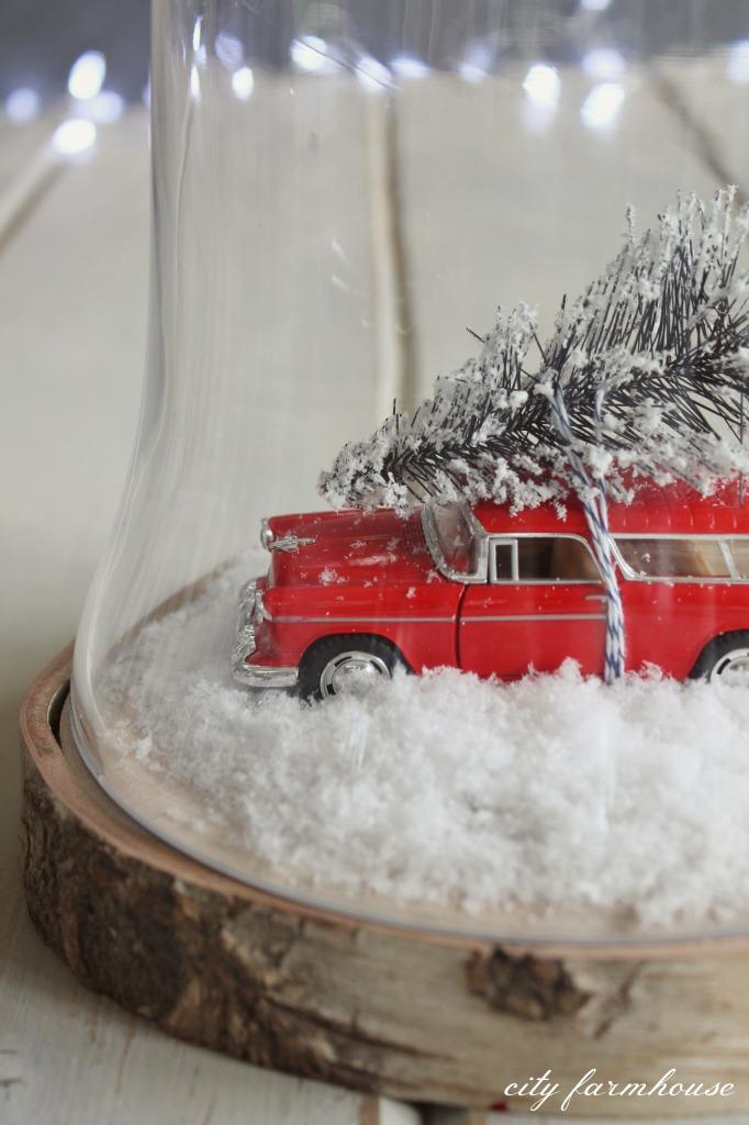 DIY Christmas Terrarium-simple & fun project