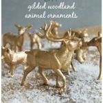 DIY Gilded Woodland Animal Ornaments