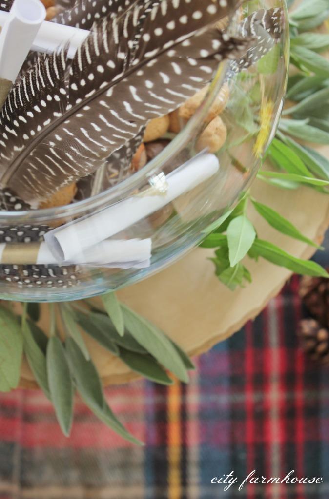 DIY Wood Slice Cake Stand & Gratitude Jar