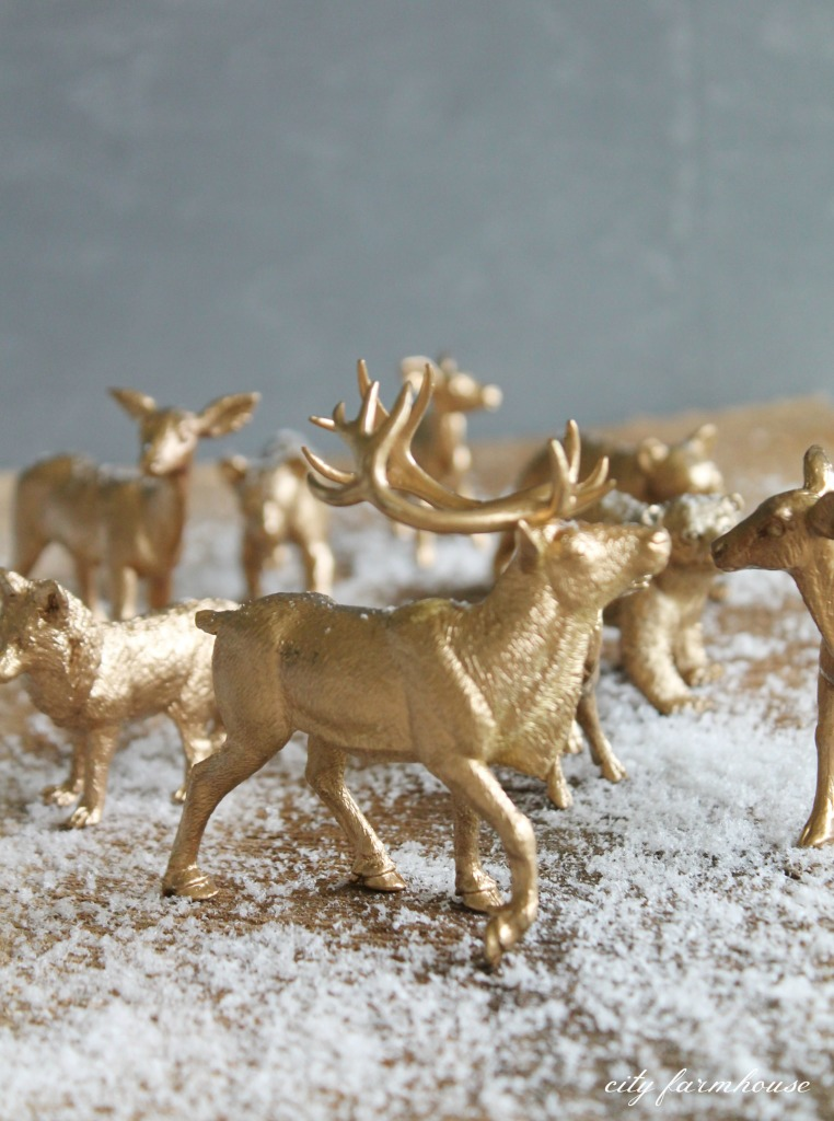 DIY gilded woodland animal ornaments-the after