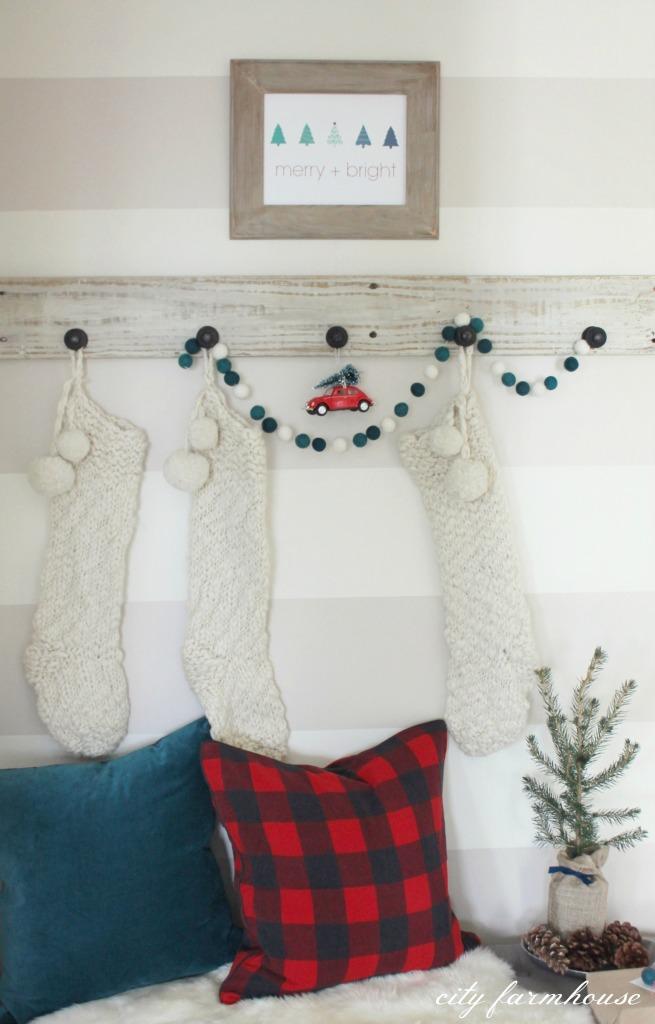 Merry + Bright Free Christmas Printable City Farmhouse