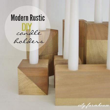 Modern Rustic DIY Candle Holders + Thanksgiving Table