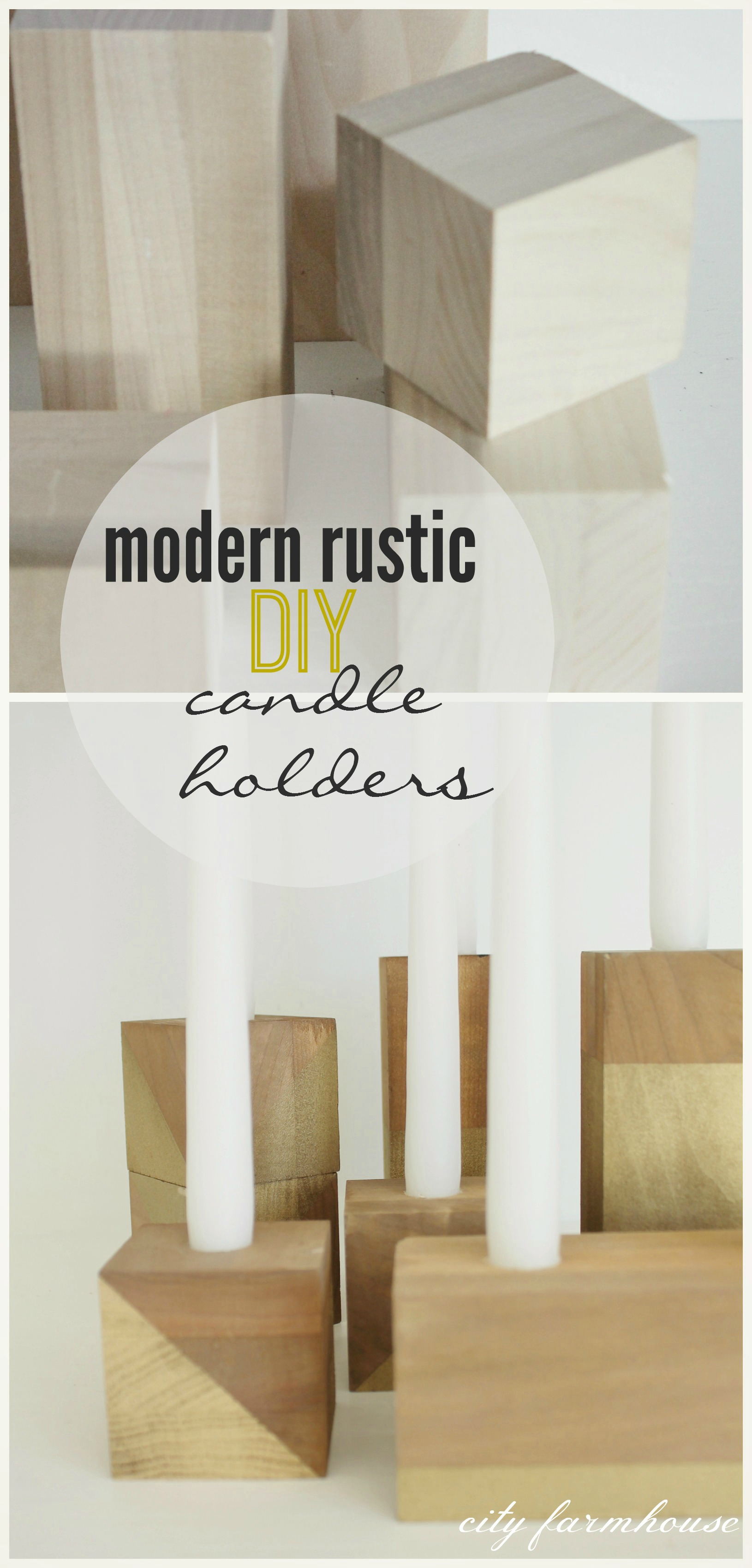 Modern Rustic Diy Candle Holders Thanksgiving Table