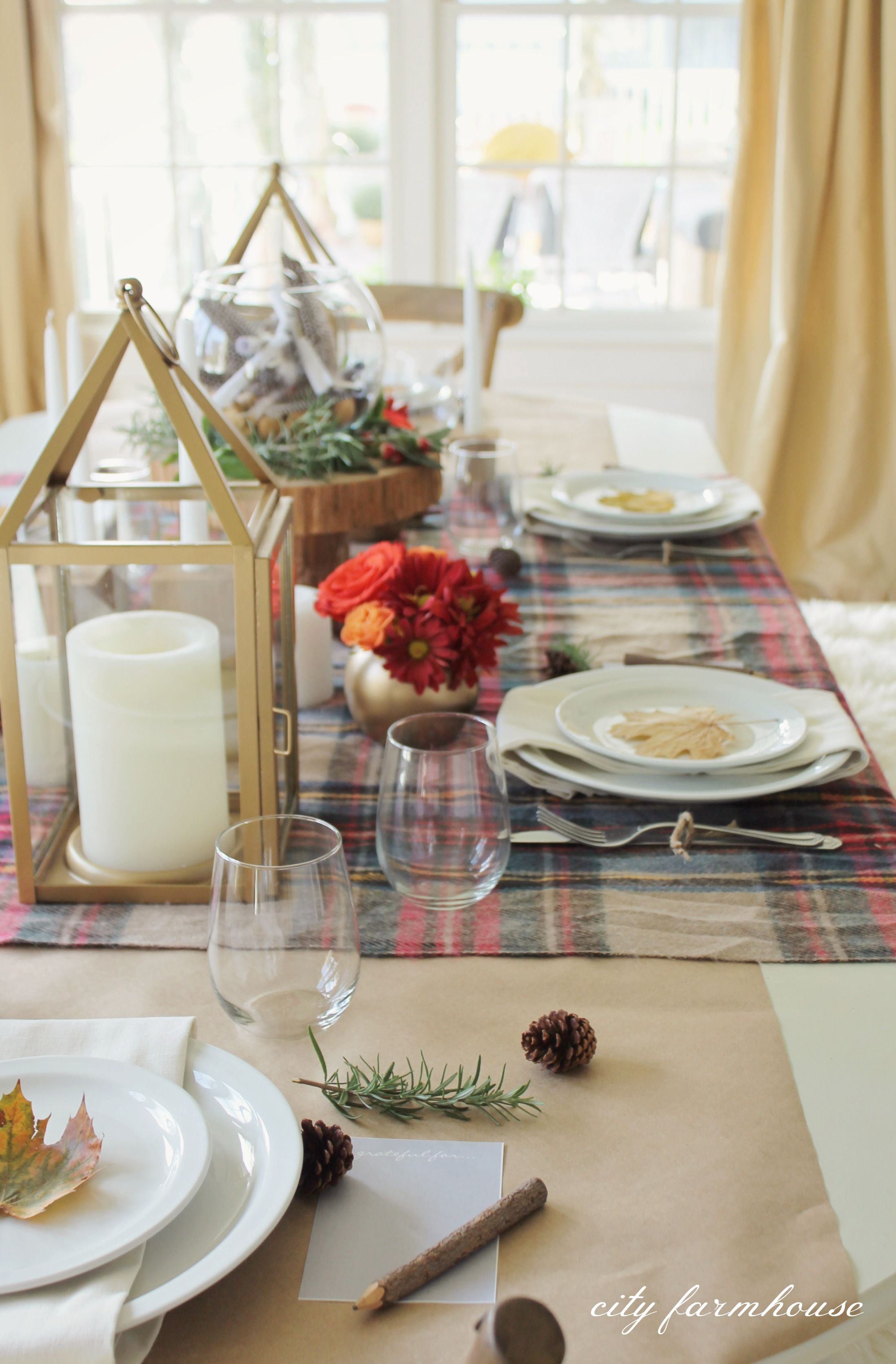 Thanksgiving Tablescape Hop City Farmhouse