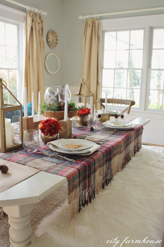 Rustic Chic Fall Thanksgiving Table