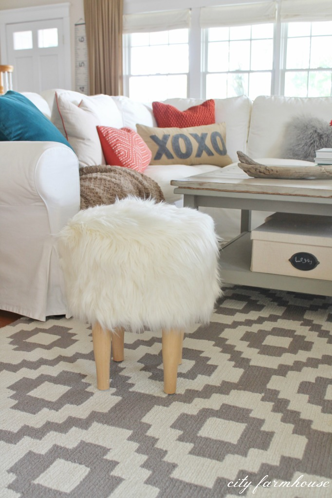 Rustic Chic Family Room + New Rug - City Farmhouse
