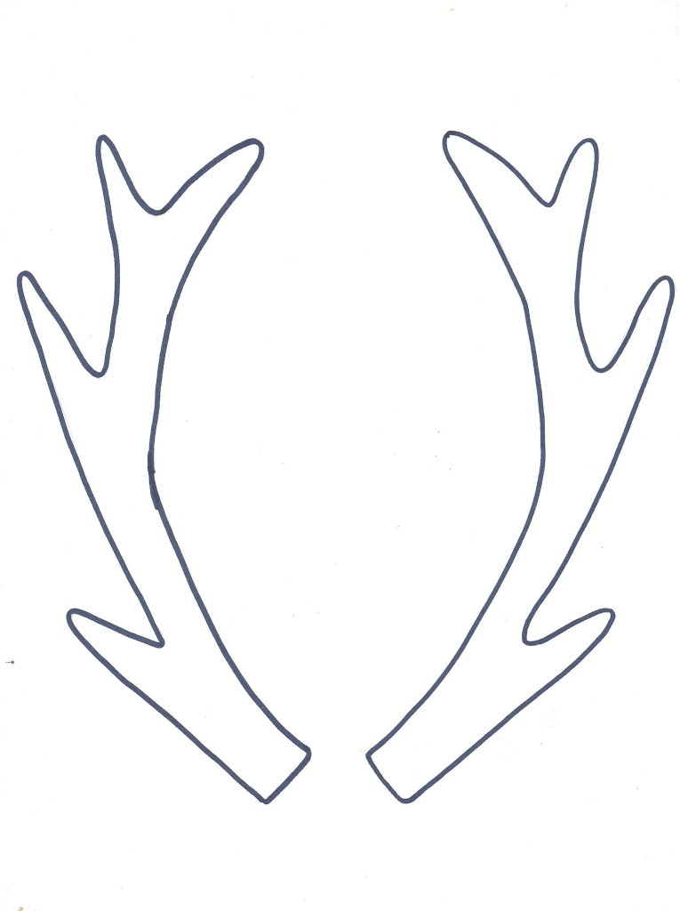 Adorable image throughout printable deer antlers