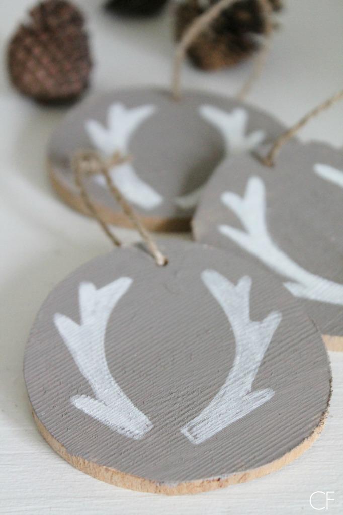 DIY Birch Slice Ornaments