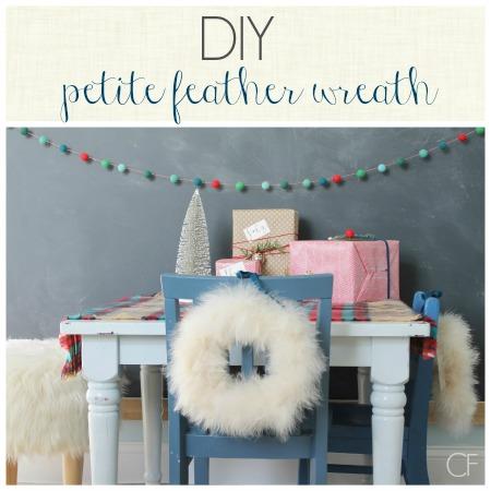 DIY Petite Feather Wreath