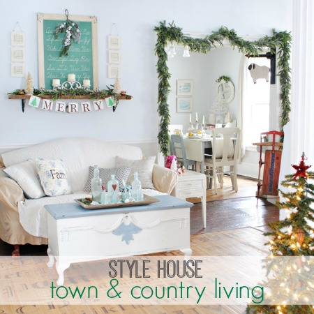 Style House Christmas-Town + Country Living