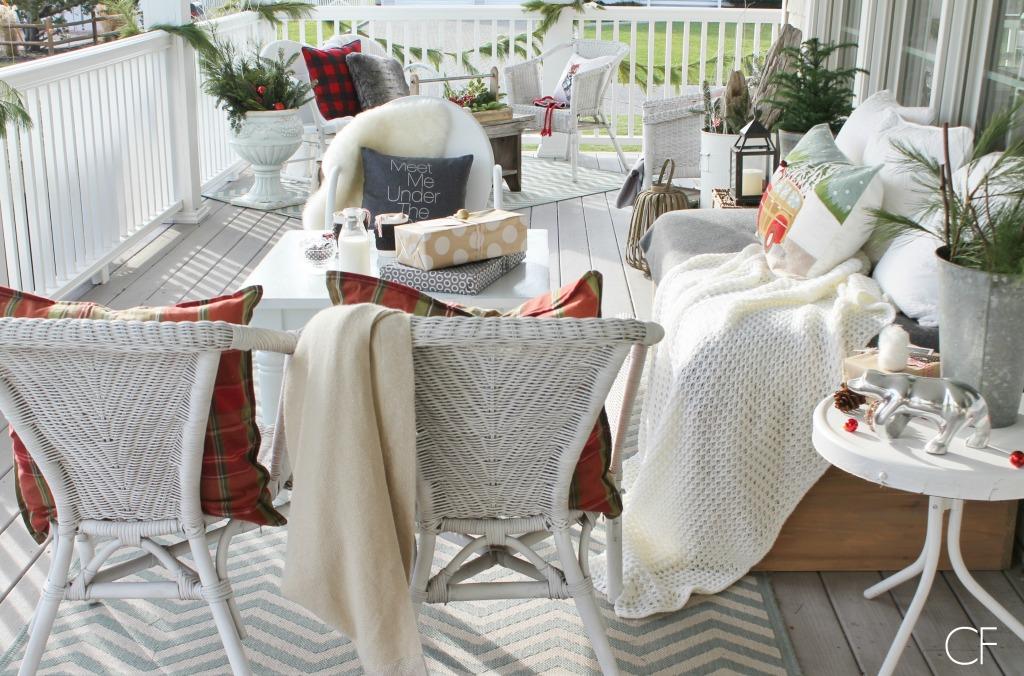 Fun & Rustic Christmas Porch