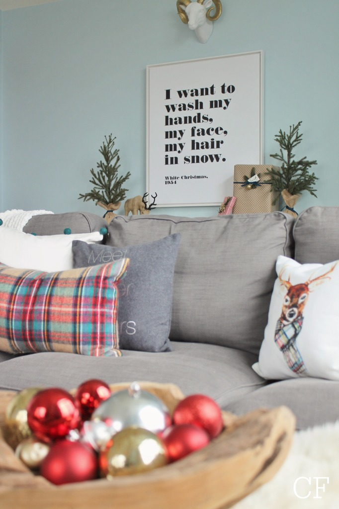 Lindsay Letters Holiday Canvas, Craftberry Bush Pillow